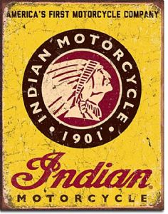 Indian America's First Motorcycle Company Metal Sign    (de)